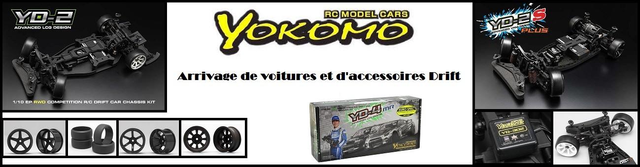 Arrivage de voitures et accessoires de Drift Yokomo