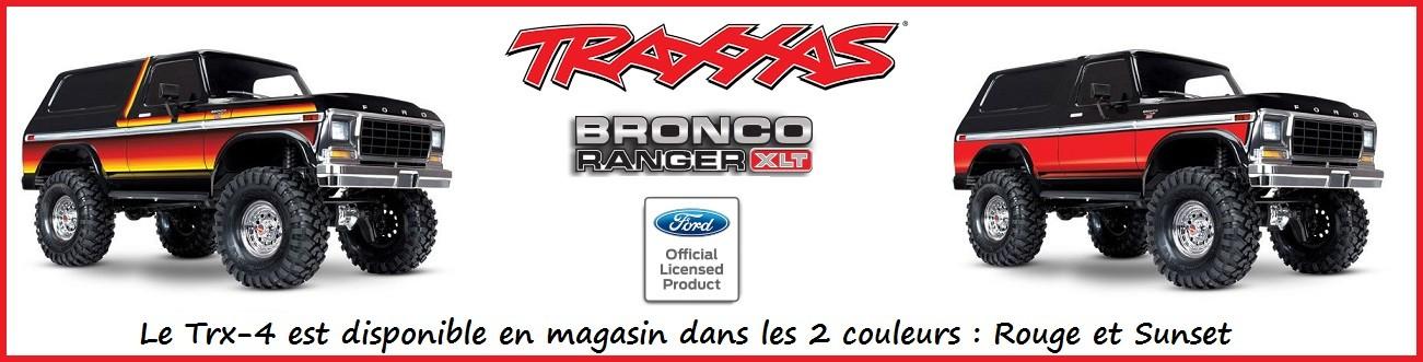 TRX4 Traxxas Ford Bronco en carrosserie couleur Sunset ou Rouge