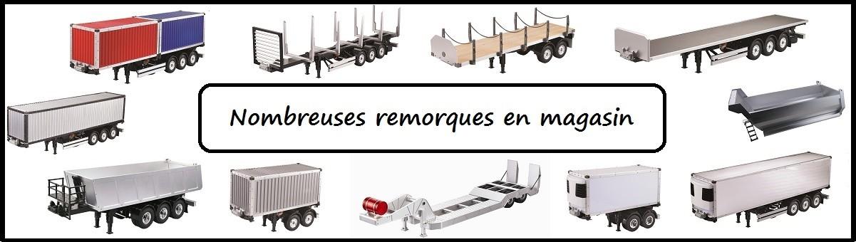 Nouvelles remorques pour camion RC Tamiya